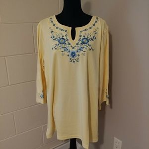 Quacker Factory tunic top